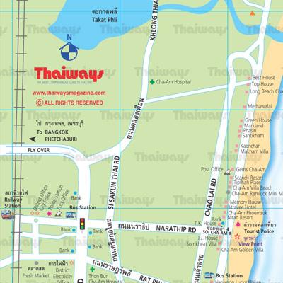Cha Am Map