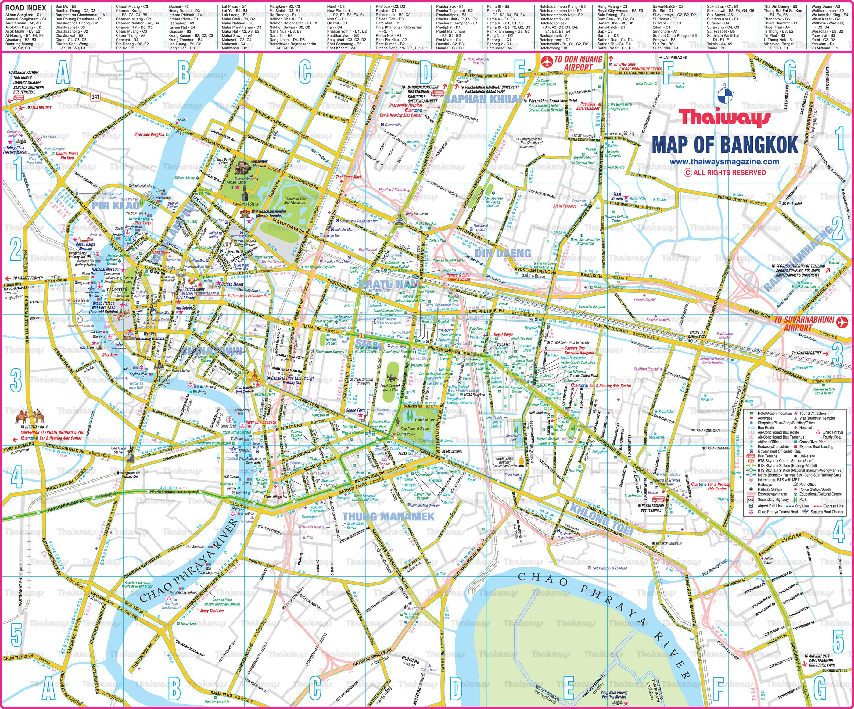 bangkok city map2800