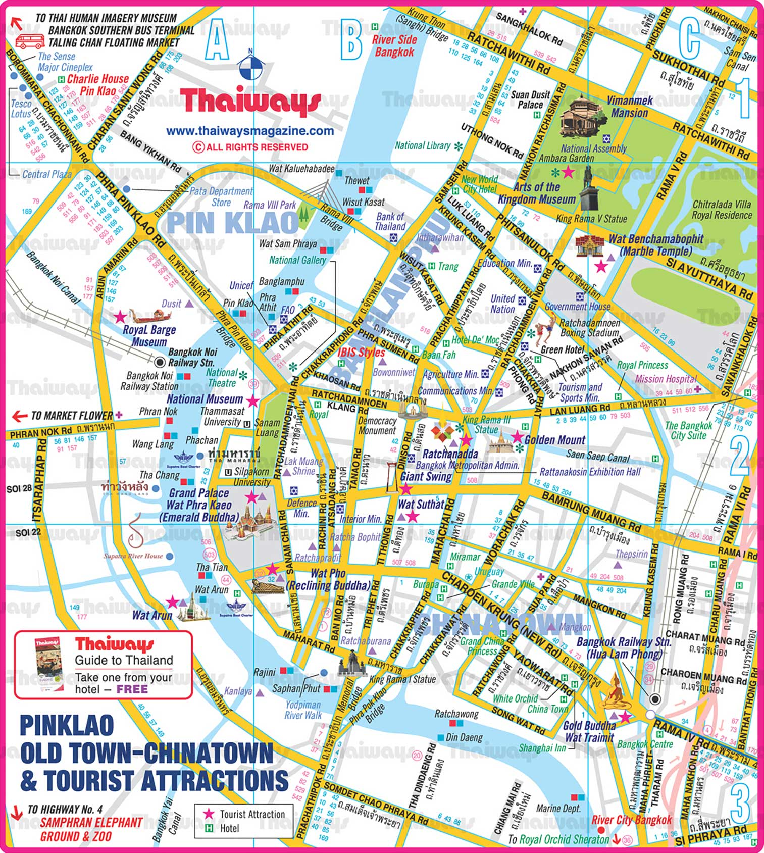 Rattanakosin Island Map
