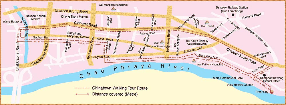Chinatown walking tour route map