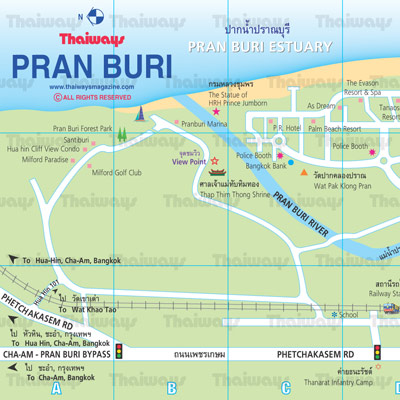 Pranburi Map